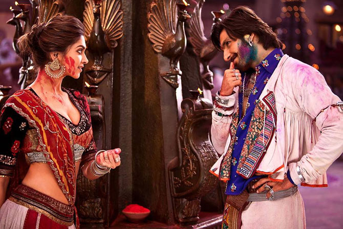 Deepika Padukone and Ranveer Singh in Ram Leela
