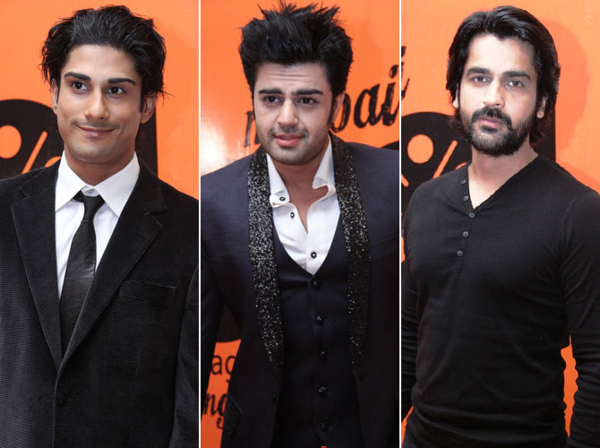 Prateik Babbar, Manish Paul and Arjan Bajwa