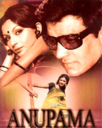 Sharmila Tagore and Dharmendra in the poster of Anupama