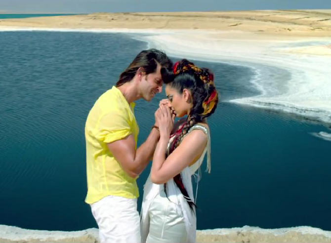 Hrithik Roshan and Kangna Ranaut in Krrish 3