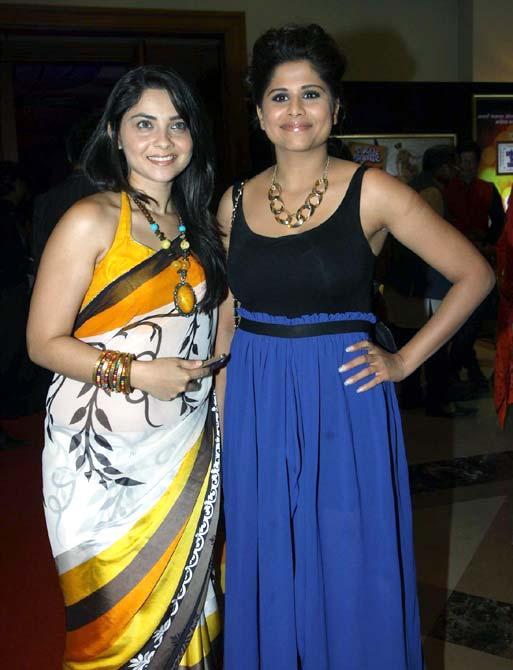 Sonalee Kulkarni and Sai Tamhanakar