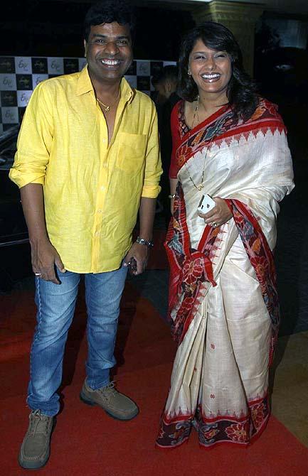 Bharat Jadhav and Pallavi Joshi