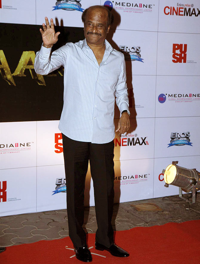 Rajinikanth at the event.
