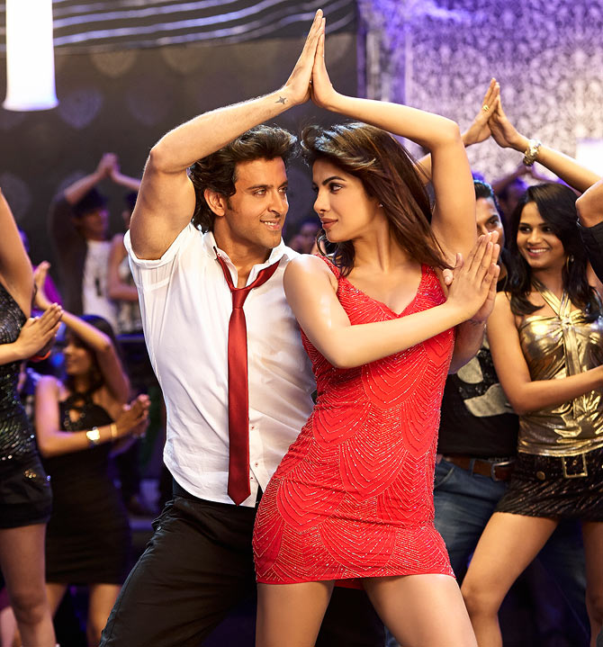 Hrithik Roshan with Priyanka Chopra in Krrish 3