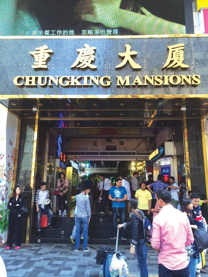 Chunking Mansion, where portions of Wong Kar-Wai's iconic film Chungking Express was shot