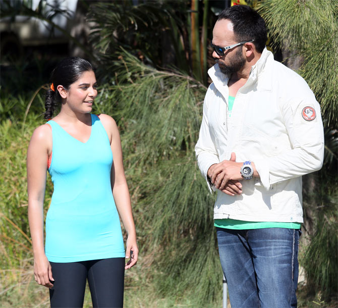 Pooja Gor with Rohit Shetty