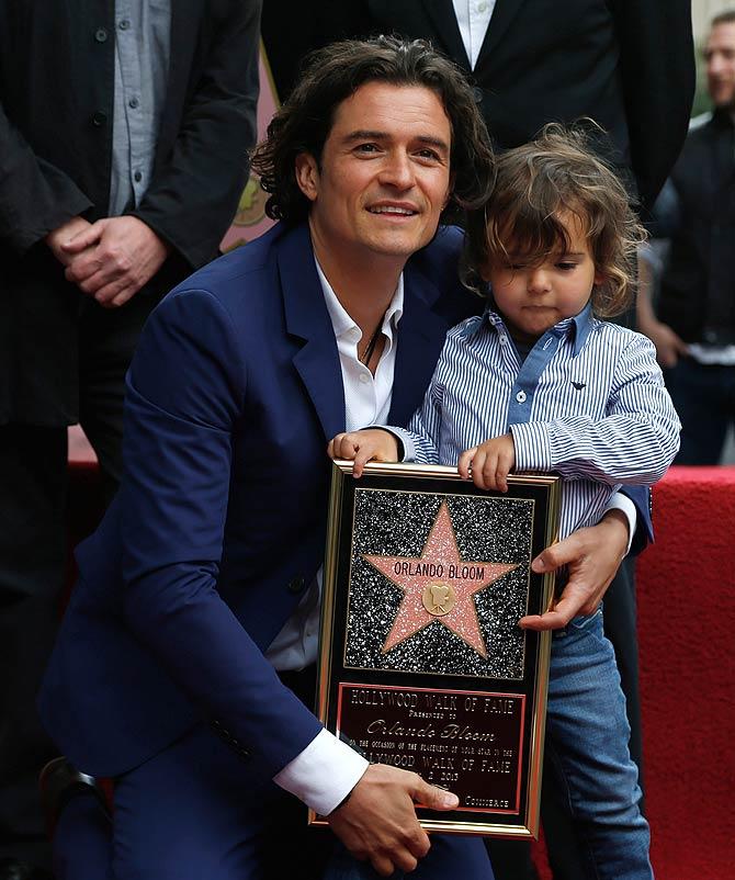 Orlando Bloom with son Flyn