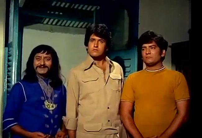 Pran, Kiran Kumar and Narendra Nath in Jangal Mein Mangal