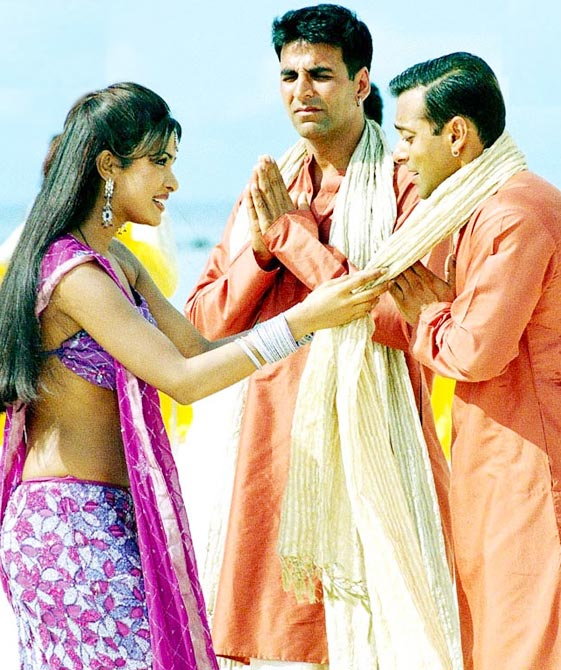 Priyanka Chopra, Akshay Kumar and Salman Khan in Mujhse Shaadi Karogi