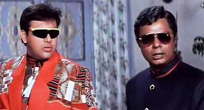 Govinda and Sadashiv Amrapurkar in Coolie No 1