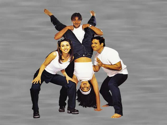 Karisma Kapoor, Sanjay Dutt, Pooja Batra and Govinda in Haseena Maan Jayegi