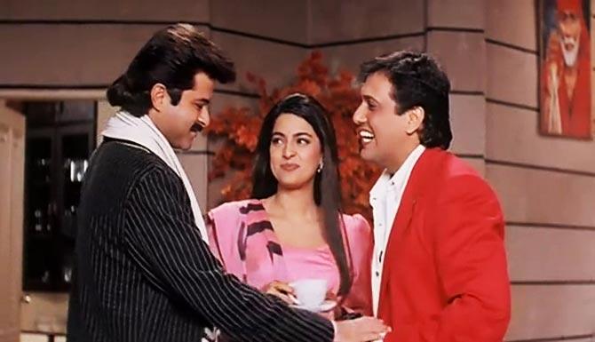 Anil Kapoor, Juhi Chawla and Govinda in Deewana Mastana
