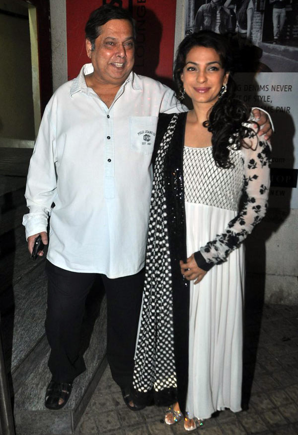 David Dhawan and Juhi Chawla