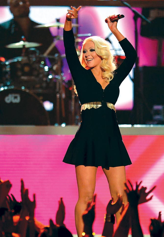 Christina Aguilera, another singer whom Savan Kotecha has written songs for.