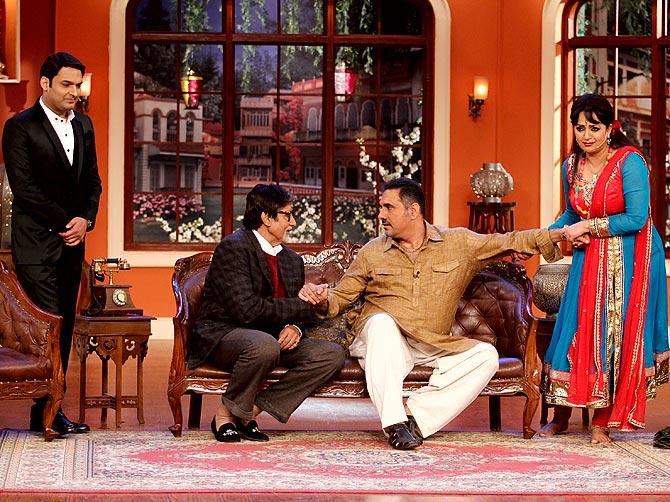 Kapil Sharma, Amitabh Bachchan, Boman Irani and Upasana Singh
