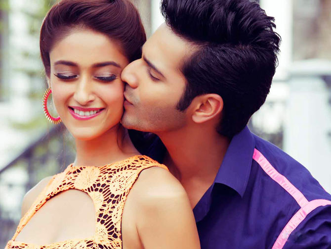 Illeana D'Cruz and Varun Dhawan in Main Tera Hero