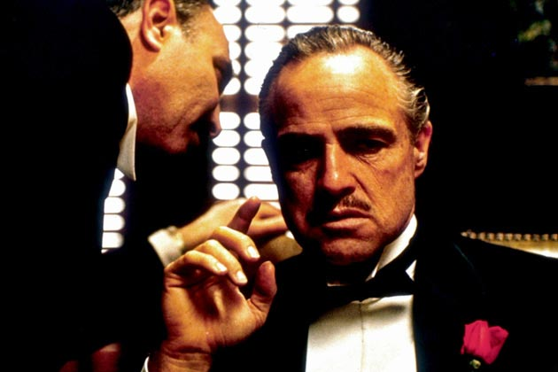 Marlon Brando (right) in The Godfather