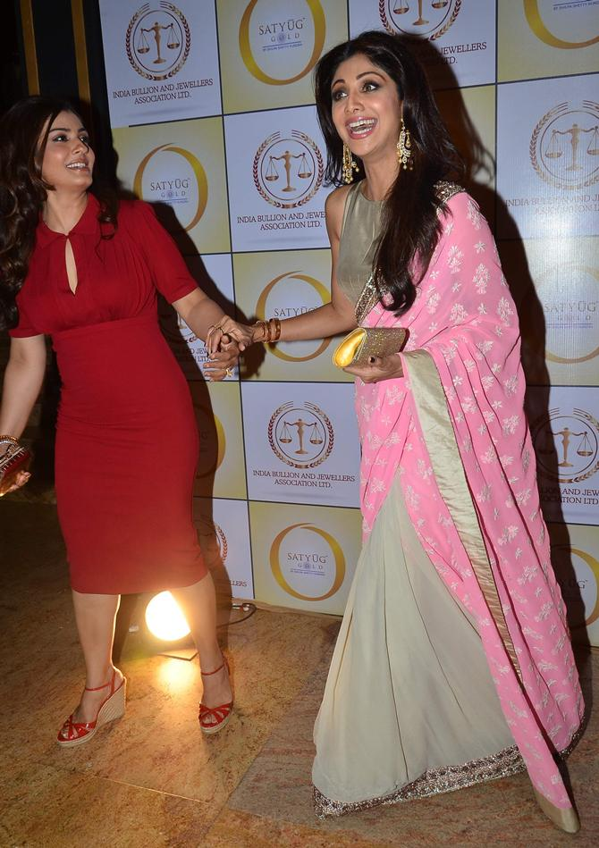 Raveena Tandon and Shilpa Shetty Kundra