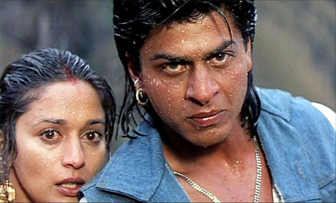 Madhuri Dixit and Shah Rukh Khan in Koyla