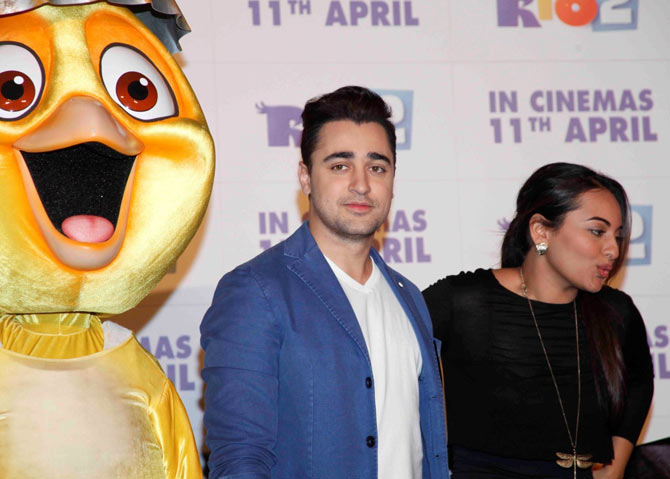 Imran Khan and Sonakshi Sinha at the Rio 2 promotional event