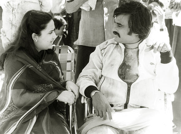 Rajinikanth with wife Latha