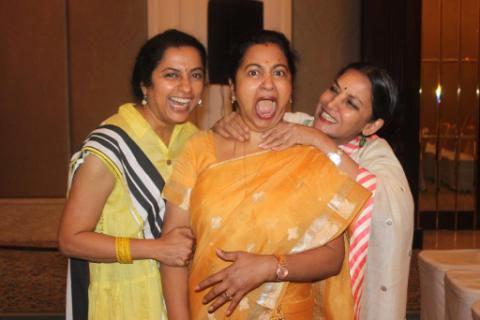 Shabana Azmi with Suhasini Radhika and a friend