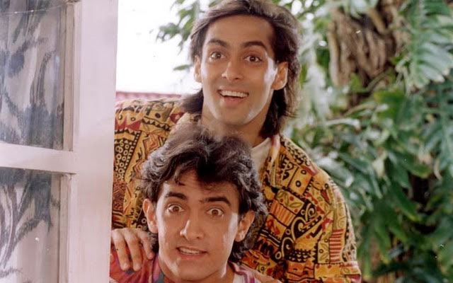 Salman Khan and Aamir Khan in Andaz Apna Apna