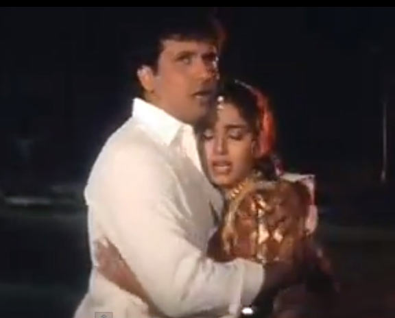 Govinda and Juhi Chawla in Andaz Apna Apna