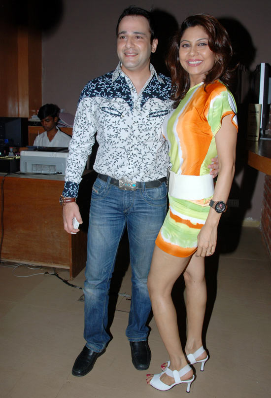 Manini with actor husband Mihir Mishra