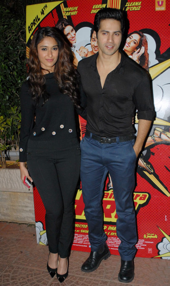 Ileana D'Cruz and Varun Dhawan