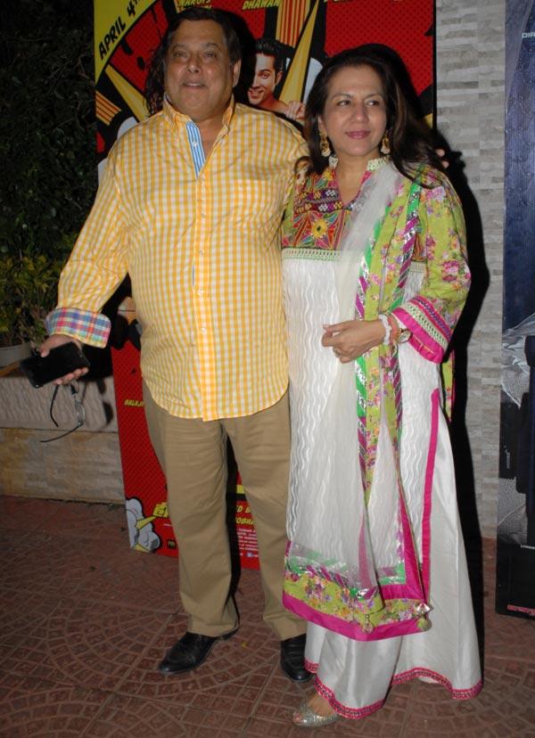 David Dhawan with wife Karuna