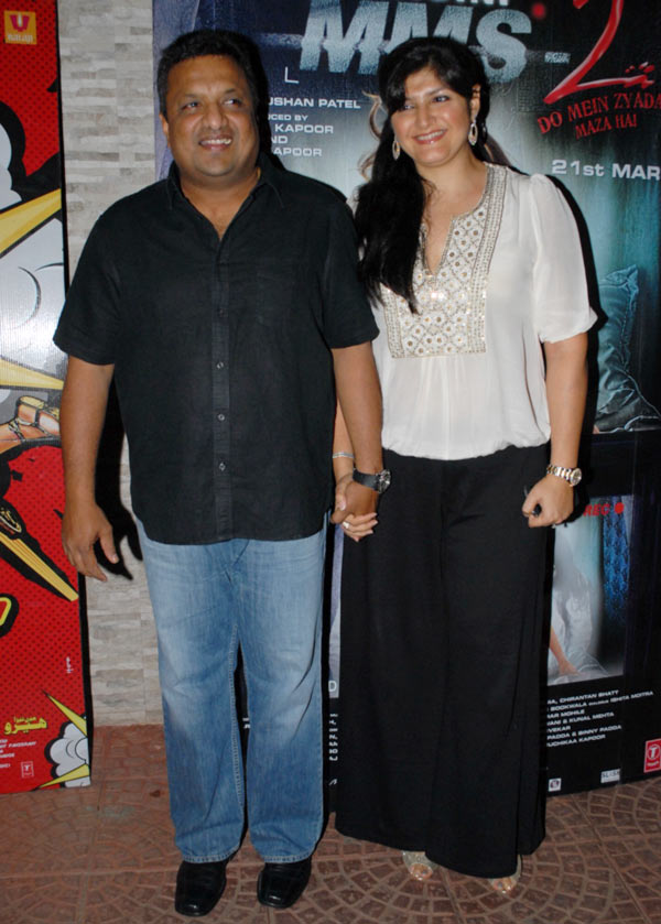 Sanjay Gupta with wife Anu Lekhi