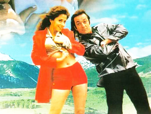 Urmila Matondkar and Sanjay Dutt in Daud