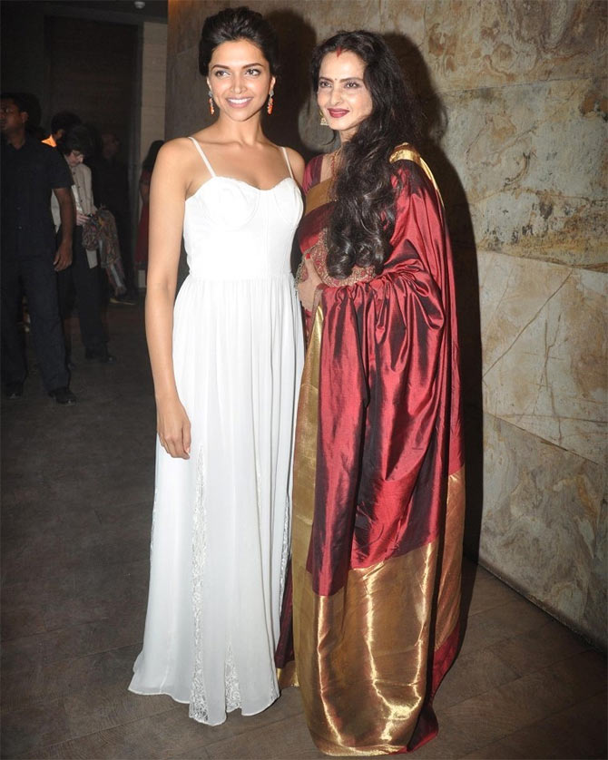 Deepika Padukone and Rekha