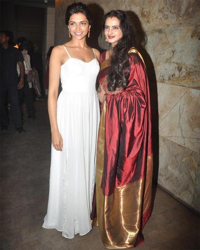 Deepika Padukone and Rekha