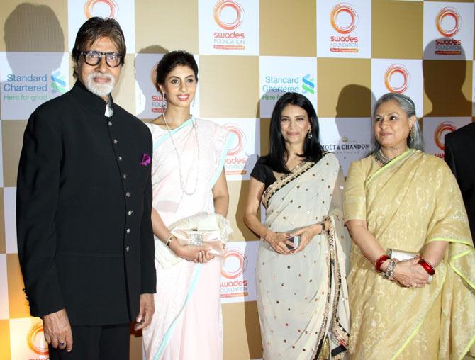 Amitabh Bachchan, Shweta Bachchan-Nanda, Zarina Mehta, Jaya Bachchan