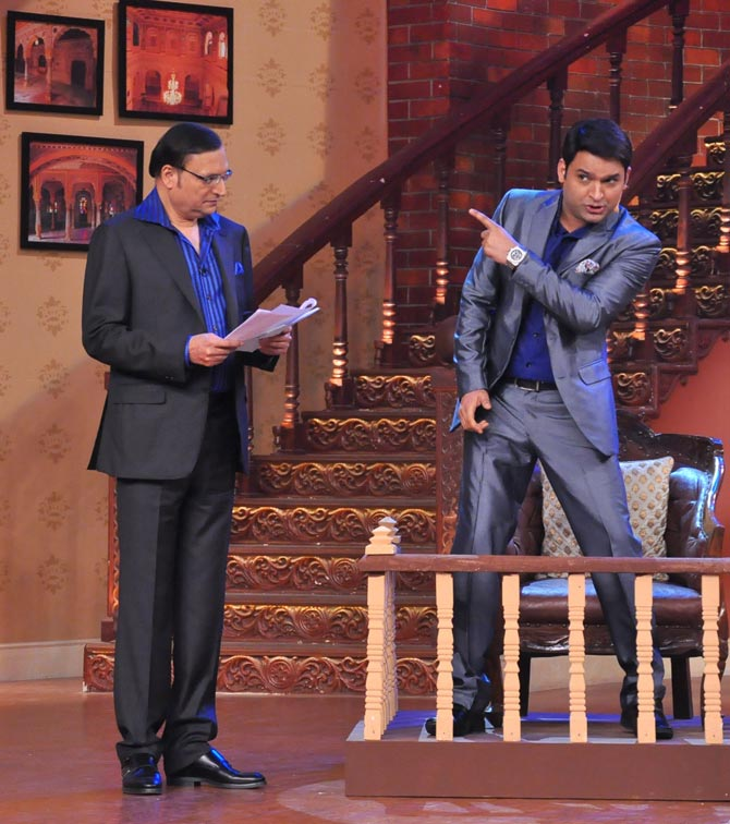 Rajat Sharma with Kapil Sharma