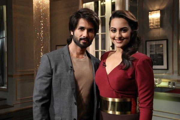 Shahid Kapoor and Sonakshi Sinha on Koffee With Karan