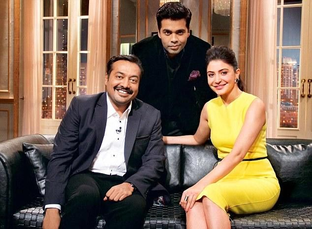 Anurag Kashyap and Anushka Sharma with Karan Johar on Koffee With Karan