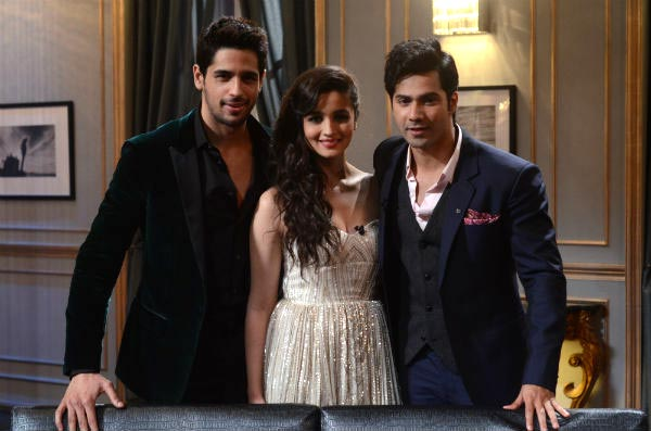 Sidharth Malhotra, Varun Dhawan and Alia Bhatt on Koffee With Karan