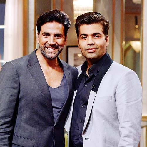 Akshay Kumar with Karan Johar on Koffee With Karan