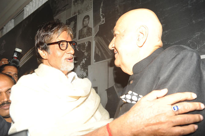 Amitabh Bachchan and Prem Chopra