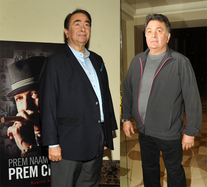 Randhir and Rishi Kapoor