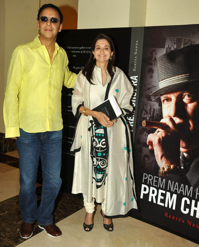 Vidhu Vinod Chopra and his wife Anupama Chopra