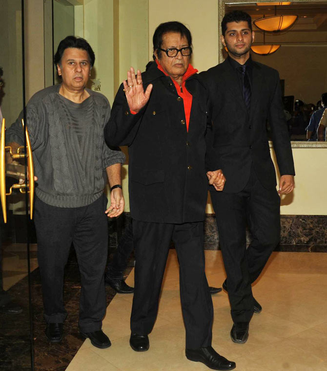 Ketan Desai, Manoj Kumar with his grandson