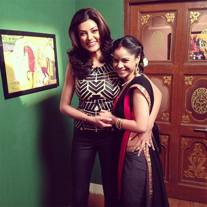 Sushmita Sen and Sumona Chakravarti