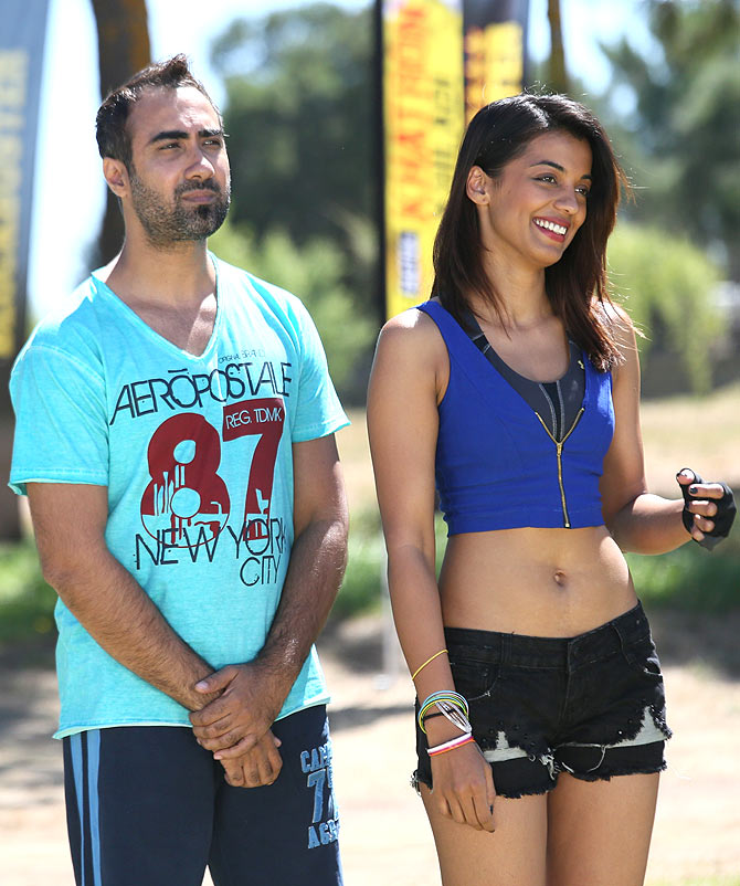 Ranvir Shorey and Mugdha Godse in Khatron Ke Khiladi