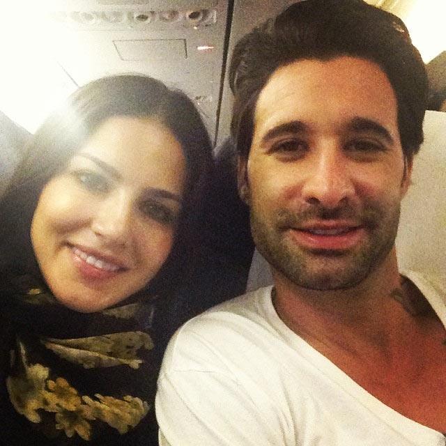 Sunny Leone with husband Daniel Weber