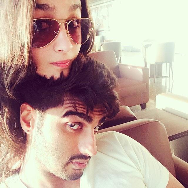 Alia Bhatt with her 2 States costar Arjun Kapoor