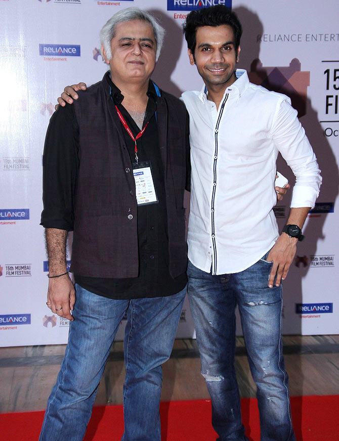 Hansal Mehta with his Shahid leading man Rajkummar Rao